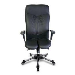 Harastuhl Chefsessel CAE schwarz Kunstleder geteilte Sitzfläche hohe Rückenlehne