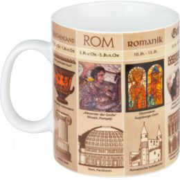 Kaffeebecher Kunstgeschichte Tasse Wissensbecher Kaffeetasse Kunst Porzellan Kaffee Tee