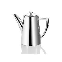 Kaffeekanne Edelstahl 1,2 Liter Teekanne Milchkanne Edelstahlkanne glänzend Retro