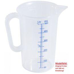 Messbecher 5 Liter groß sterilisierbar unzerbrechlich Messkanne