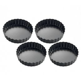 Mini Tarteformen rund 4-er Set Backformen klein Tarteletteform Kuchenform Backförmchen Backform