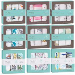 Mulltücher 3er Set Mullwindeln Spucktücher Stoffwindeln Baby Schmusetuch bedruckt