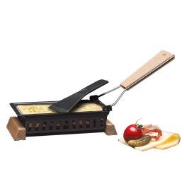 Party Raclette Formaggio mit Teelichter Mini Grill Tischgrill Gerät Käse ohne Strom Tischraclette