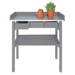 Pflanztisch grau Tisch Garten Holz Gartentisch Arbeitstisch Gärtnertisch Gartenarbeitstisch