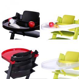 Playtray Tisch für den Stokke Tripp Trapp schwarz weiß rot transparent grau Hochstuhl Kinderstuhl