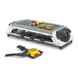 Raclette Style für 8 Personen 8er Hot Stone heißer Stein Grill Raklette Tischgrill