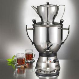 Samowar 3003S schwarz Teekocher Teezubereiter Samovar Teemaschine Teekanne zubereiten Wasserkocher
