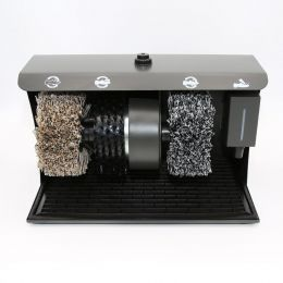 Schuhputzmaschine inklusive Schuhcreme Schuhputzautomat elektrisch Schuhe putzen shoe polisher Schuhputzgerät