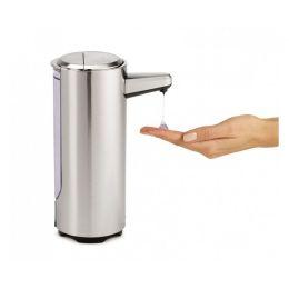 Seifenspender 325 ml mattnickel Sensorspender wiederaufladbar Flüssigseifenspender Bad aufladbar