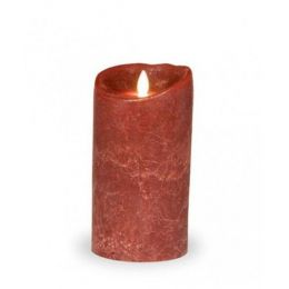 Sompex LED Kerze Bordeaux Frosted 8 x 12,5 elektrische Kerze elektrisches Licht Kerze Stumpenkerze