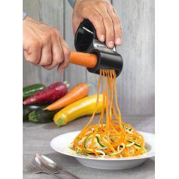 Spiralschneider schwarz Gemüsestreifen Gemüse schneiden Julienne Gemüseschneider Messer