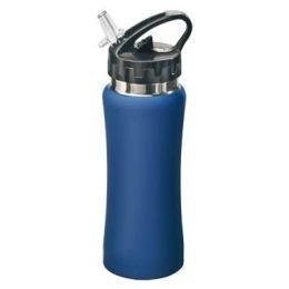 Sportflasche Sporty Edelstahl 0,5 l Sport Trinkflasche Wasserflasche blau Fahrradflasche