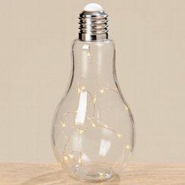 Tischleuchte Glühbirne Leuchte Tischlampe LED Nachttischlampe Stehlampe Schalter Batterie