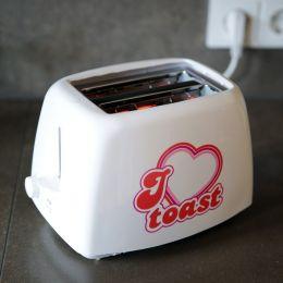 Toaster I love you Liebe toasten Toast weiß für 2 Scheiben toasted Schriftzug Herz