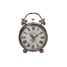 Uhr Orleans Weckeroptik Zeit Uhrzeit Uhrzeitmesser Time Eisen hellbraun Vintageoptik Dekoration