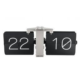 Wanduhr Flip Clock schwarz Standuhr Tischuhr Nostalgie Wohnzimmeruhr Industrial Style Retro Uhr
