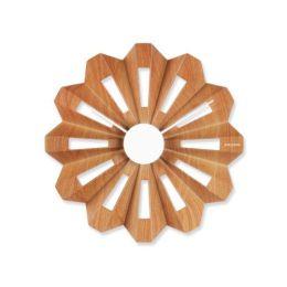 Wanduhr Lotus Flower Holz Uhr Wand