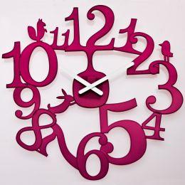 Wanduhr PI:P himbeer Uhr Uhrzeit rot clock Zeitmesser Zeit Time