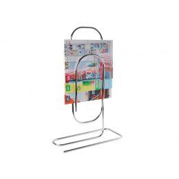 Zeitschriftenständer Paperclip Metall chrom Zeitungsständer Zeitungskorb Zeitungsablage