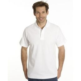 SNAP Polo Shirt Star - Gr.: M, Farbe: weiss