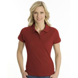 SNAP Polo Shirt Top-Line Women dunkelrot, Grösse 2XL