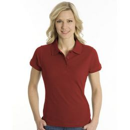 SNAP Polo Shirt Top-Line Women dunkelrot, Grösse XS