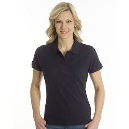 SNAP Polo Shirt Top-Line Women schwarz, Grösse 3XL