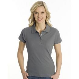 SNAP Polo Shirt Top-Line Women stahlgrau, Grösse S