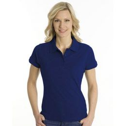 SNAP Polo Shirt Top-Line Women tiefdruckfarbe blau, Grösse XL
