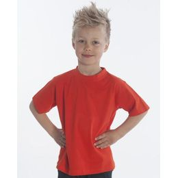 SNAP T-Shirt Basic-Line Kids, Gr. 128, Farbe rot