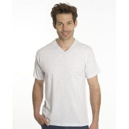SNAP T-Shirt Flash Line V-Neck Unisex, asche, Gr. 3XL