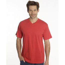 SNAP T-Shirt Flash Line V-Neck Unisex, rot, Gr. L