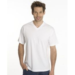 SNAP T-Shirt Flash Line V-Neck Unisex, weiss, Gr. 3XL