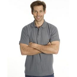 SNAP Workwear Polo Shirt P1, Stahl Grau, Grösse L