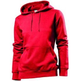 Stedman Hooded Sweatshirt Women, scharlachrot, Grösse M