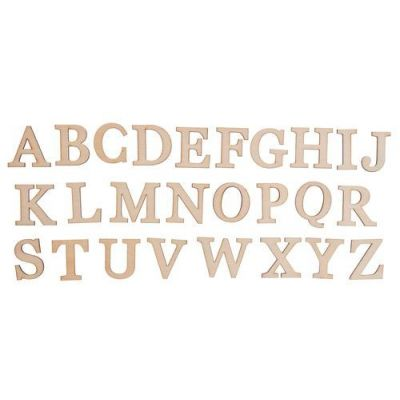 Buchstaben Holz, A-Z (25 x 25 mm) | 680-552873 / EAN:4015367552877