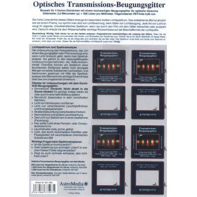 Durchlicht Beugungsgitter, 500 Linien pro mm | 10-507.NDL / EAN:4260489740965