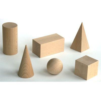 Ebert Geometrische Körper - Raumkörpersatz aus Holz 6 Teile | 110-615422 / EAN:4024808615422