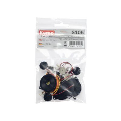 Kemo Piezo-Lautsprecher und Mikrofone, ca.20 Stück | 420-S105 / EAN:4024028041230