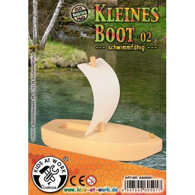 KIDS AT WORK Bastelvorschlag kleines Boot 02 | 050-A600591 / EAN:4047542605917