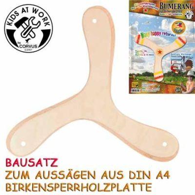 KIDS AT WORK Bumerangbausatz 3-Flügler | 050-A600528 / EAN:4047542605283