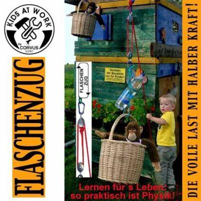 KIDS AT WORK Flaschenzug mit Seil 5m | 050-A750130 / EAN:4047542751300