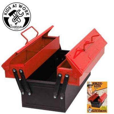 KIDS AT WORK Werkzeugkasten aus Metall, rot | 050-A600028 / EAN:4047542600288