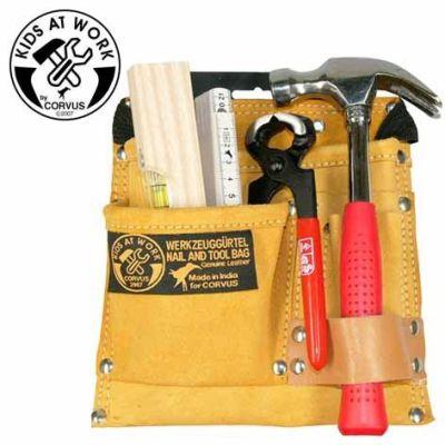 KIDS AT WORK Werkzeugset im Gürtel 6-teilig | 050-A600100 / EAN:4047542601001