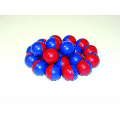 Kugelmagnet kunststoffumhüllt, rot/blau (15 mm), 20 Stück   045-50297 / EAN:5060155730196