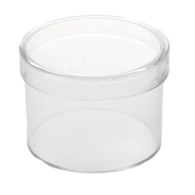 Kunststoffdose 40mm mit Deckel, transparent | 680-716051 / EAN:4016490401605