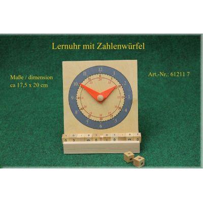 Lernuhr mit Zahlenwürfel | 110-612117 / EAN:4024808612117