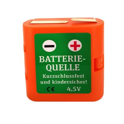 LYS Media Batterieadapter 4,5 Volt, Flachbatterie, mit selbst-rückstellender PTC-Sicherung | 440-1017 / EAN:0751385649512