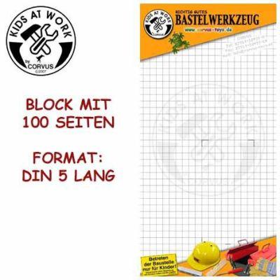Schreibblock DIN 5 lang   050-A001020 / EAN:4047542010209