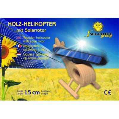 SOL-EXPERT Holz-Hubschrauber mit großem Solarrotor   695-20001 / EAN:4037373200016